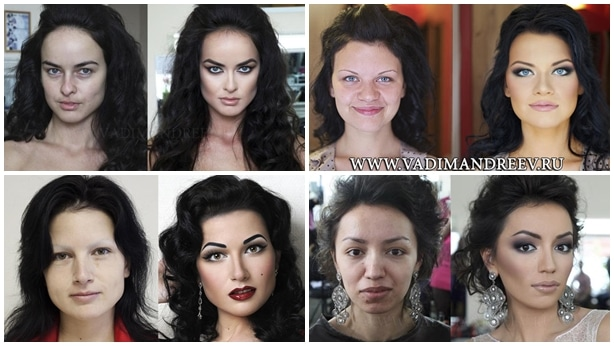 Maquillaje efecto Photoshop